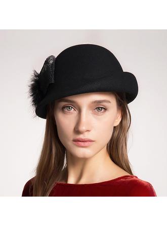 Wool With Silk Flower Beret Hat Elegant 55-57 Hats