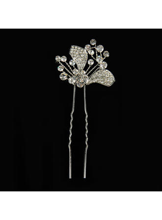 "Hairpins Wedding Alloy/Silver Plated 5.12""(Approx.13cm) 1.57""(Approx.4cm) Headpieces"