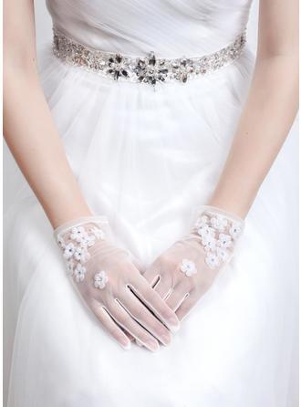 Tulle Ladies' Gloves Wrist Length Bridal Gloves Fingertips Gloves