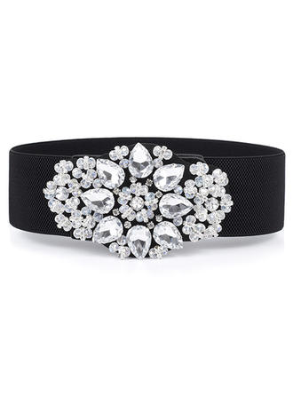 Women PU With Rhinestones Belt Fashional Sashes & Belts