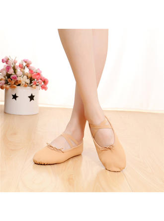 Women's Ballet Belly Flats Satin With Lace-up Dance Shoes
