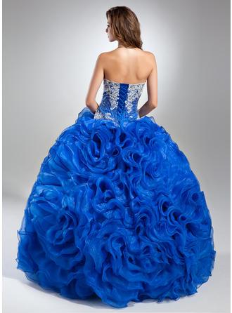 オーガンザ Elegant プロム用ドレス とともに プリンセスライン1 ストラップレス (018112904)