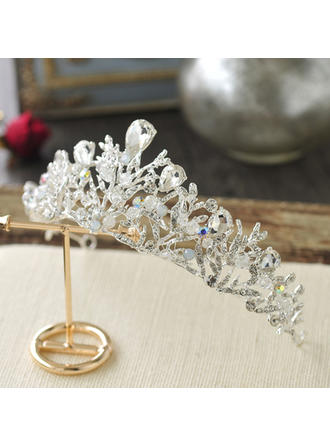 Ladies Beautiful Crystal/Alloy Tiaras With Imitation Crystal (Sold in single piece)