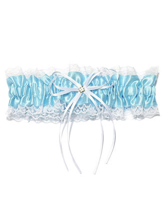 Garters Women Wedding/Special Occasion Satin/Lace With Ribbons/Rhinestone Garter (104196056)