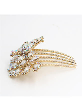 """Combs & Barrettes Special Occasion/Party Rhinestone/Imitation Pearls 3.74""""(Approx.9.5cm) 1.77""""(Approx.4.5cm) Headpieces"""