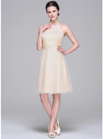 puffy blue prom dresses