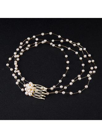 Nice Alloy/Imitation Pearls Headbands (Sold in single piece)