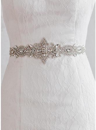 Women Satin With Rhinestones Sash Gorgeous Sashes & Belts
