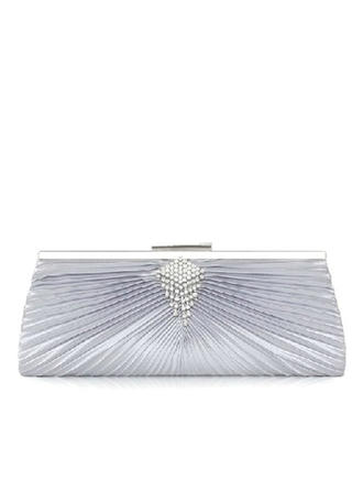 Clutches Wedding/Ceremony & Party Satin Snap Closure Fashional Clutches & Evening Bags