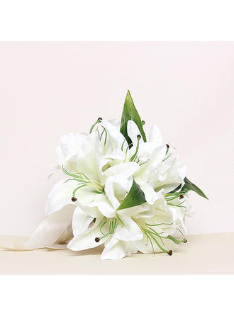 "Bridesmaid Bouquets Round Wedding Satin 8.66""(Approx.22cm) Wedding Flowers"