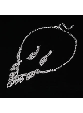 Bonito Liga/Strass/Zircon Senhoras Conjuntos de jóias