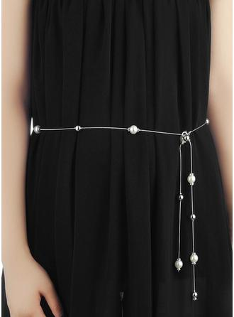 Women Alloy With Imitation Pearls Belt Fashional Sashes & Belts