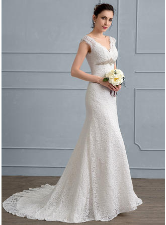Beading Trumpet/Mermaid - Lace Wedding Dresses