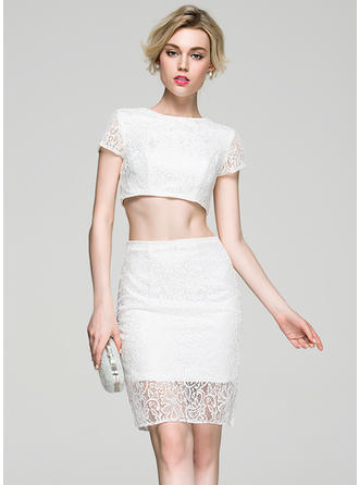 Magnificent Sheath/Column Scoop Neck With Cocktail Dresses