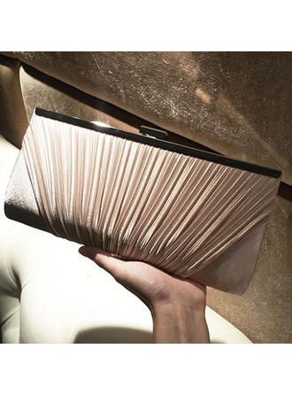 Clutches Wedding/Ceremony & Party Silk Clip Closure Elegant Clutches & Evening Bags (012187584)