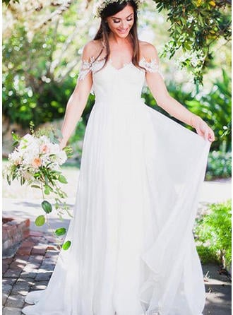 Sleeveless Regular Straps Chiffon A-Line/Princess Wedding Dresses