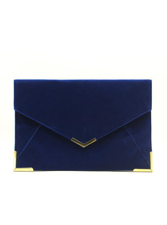 Clutches/Luxury Clutches Wedding/Ceremony & Party/Casual & Shopping/Office & Career Velvet Magnetic Closure Elegant Clutches & Evening Bags