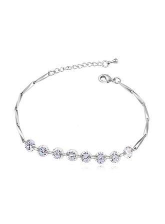 "Bracelets Zircon/Platinum Plated Ladies' Classic 6.30""(Approx.16cm) Wedding & Party Jewelry"