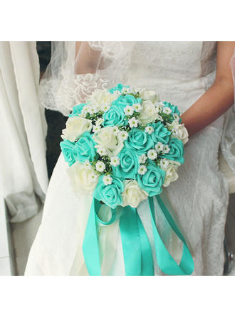 "Bridal Bouquets Round Wedding Satin 9.49""(Approx.24cm) Wedding Flowers"
