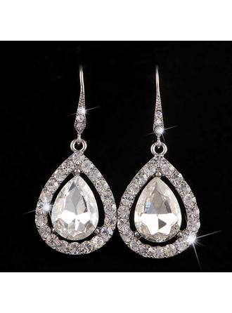 Hermoso Aleación/Diamantes de imitación Señoras' Pendientes