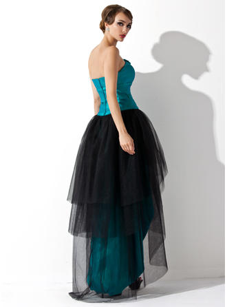silk long prom dresses
