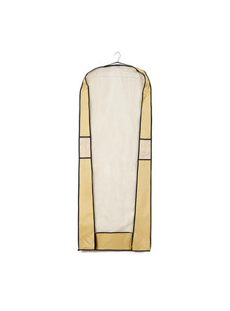 Garment Bags Dress Length Side Zip Tulle/Nonwoven Fabric Yellow Wedding Garment Bag (035192307)