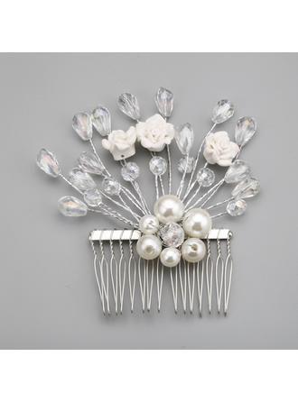 "Combs & Barrettes Wedding/Special Occasion/Party Alloy/Imitation Pearls 3.94""(Approx.10cm) 3.94""(Approx.10cm) Headpieces"