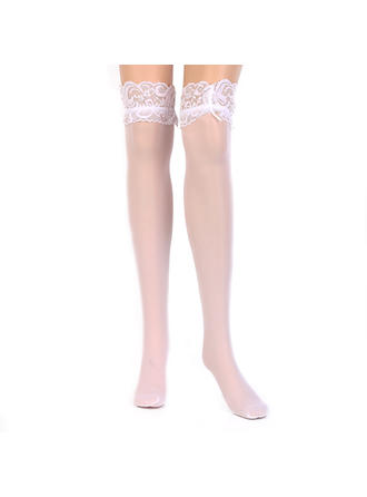 Hosiery Women/Bridal/Lady Wedding/Casual/Daily Wear Chinlon With Lace Garter
