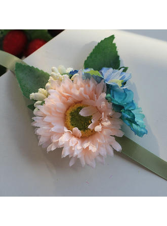 "Wrist Corsage Wedding Satin/Silk 3.94""(Approx.10cm) Sweet Wedding Flowers"