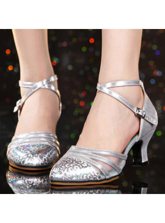 Women's Ballroom Heels Leatherette Dance Shoes