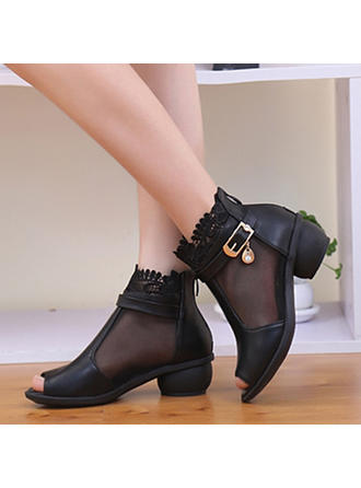 Women's Dance Boots Boots Real Leather Dance Shoes