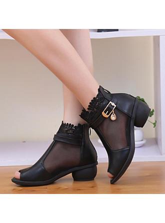 Женщины Танцевальные Сапоги Ботинки Натуральня кожа Обувь для танцев