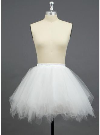 Petticoats Short-length Tulle Netting/Polyester A-Line Slip/Full Gown Slip/Flower Girl Slip/Half Slip 3 Tiers Petticoats