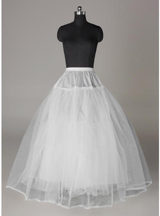 Bustle Floor-length Tulle Netting/Lace Full Gown Slip 4 Tiers Petticoats