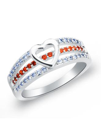 Rings Copper/Zircon/Platinum Plated Ladies' Eternal Love Wedding & Party Jewelry