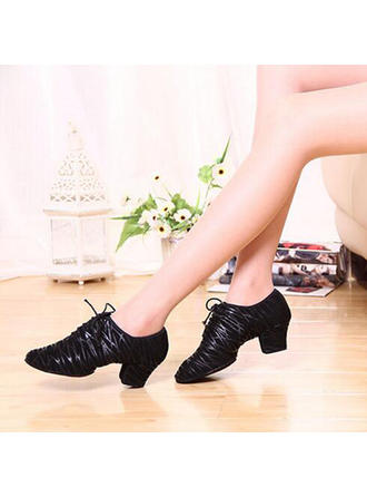 Women's Practice Heels Pumps Real Leather Dance Shoes