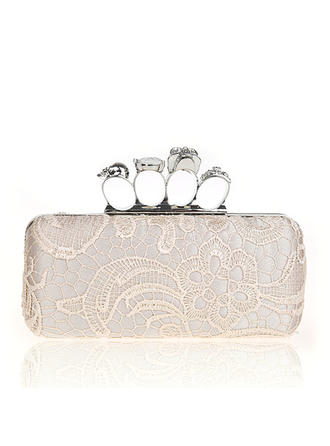 Clutches Wedding/Ceremony & Party Lace Snap Closure Elegant Clutches & Evening Bags