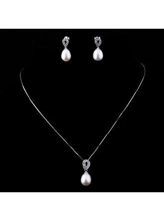 Gorgeous Pearl/Sterling Sølv Ladies ' Smykke Sæt
