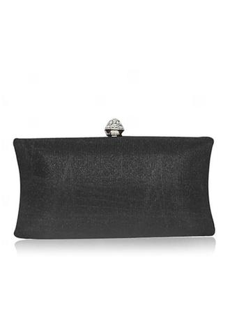 Clutches Ceremony & Party Satin Clip Closure Elegant Clutches & Evening Bags