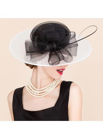 Cambric With Tulle Fascinators/Bowler/Cloche Hat Glamourous Ladies' Hats