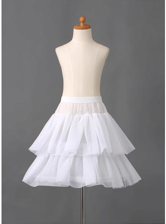 Petticoats Short-length Nylon/Tulle Netting Full Gown Slip/Flower Girl Slip 2 Tiers Petticoats