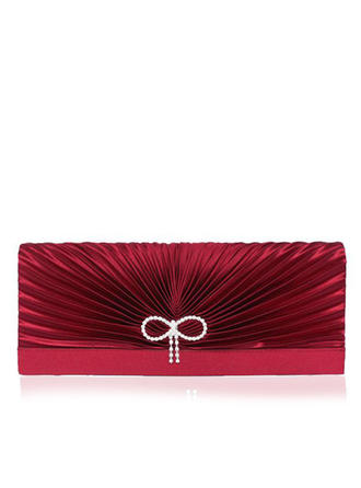 Clutches Wedding/Ceremony & Party Satin/Silk Magnetic Closure Gorgeous Clutches & Evening Bags