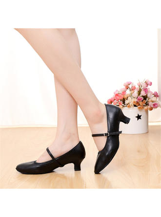 Women's Character Shoes Pumps Real Leather With Buckle Dance Shoes