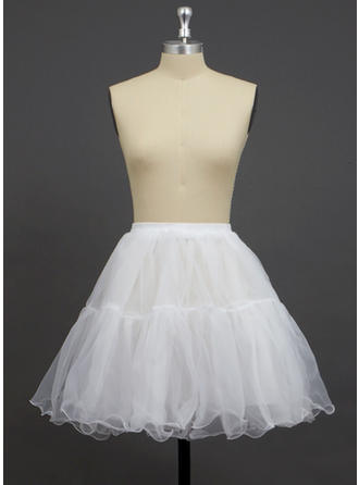 Petticoats Short-length Organza/Polyester A-Line Slip/Full Gown Slip/Flower Girl Slip/Half Slip 2 Tiers Petticoats
