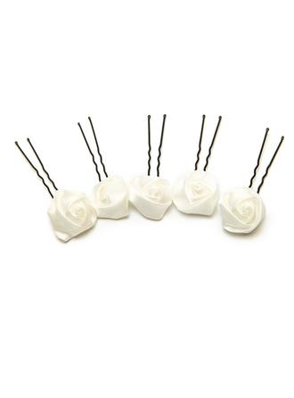 Alloy/Artificial Silk Hairpins (Set of 5) (042059931)