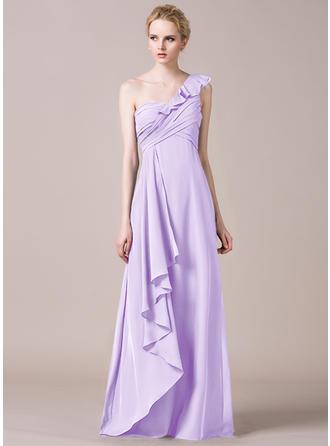 One-Shoulder A-Line/Princess Chiffon Sleeveless Bridesmaid Dresses