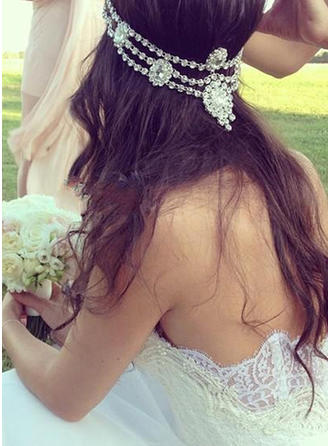 Court Train Appliques Sweetheart With Chiffon Wedding Dresses
