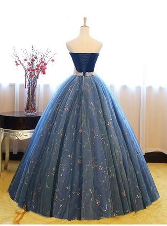 prom dresses gowns blue