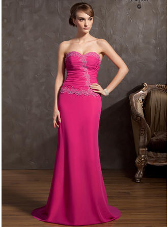 Fashion Chiffon A-Line/Princess Zipper Up Evening Dresses