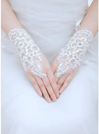 Tulle/Lace Ladies' Gloves Wrist Length Bridal Gloves Fingerless Gloves